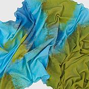 """Аксессуары ручной работы. Ярмарка Мастеров - ручная работа Шарф """"Все стало вокруг голубым и зеленым..."""". Handmade."""