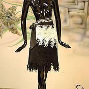 """Одежда ручной работы. Ярмарка Мастеров - ручная работа Юбка """"Нетканка"""" на любой размер - регулируется запахом с шелковым бант. Handmade."""