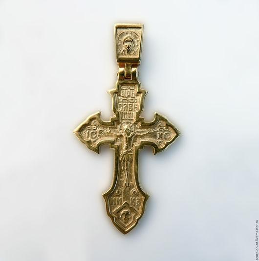 Кулоны, подвески ручной работы. Ярмарка Мастеров - ручная работа. Купить Крест серебряный позолоченный высота 4 см.. Handmade.