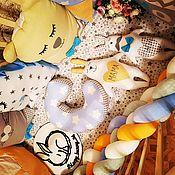 Бортики в кроватку ручной работы. Ярмарка Мастеров - ручная работа Бортик-коса. Handmade.