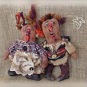 Куклы и игрушки ручной работы. Ярмарка Мастеров - ручная работа парочка Тыковок. Handmade.