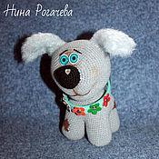 Куклы и игрушки ручной работы. Ярмарка Мастеров - ручная работа Щенок Ники. Собака вязаная. Год собаки. Handmade.