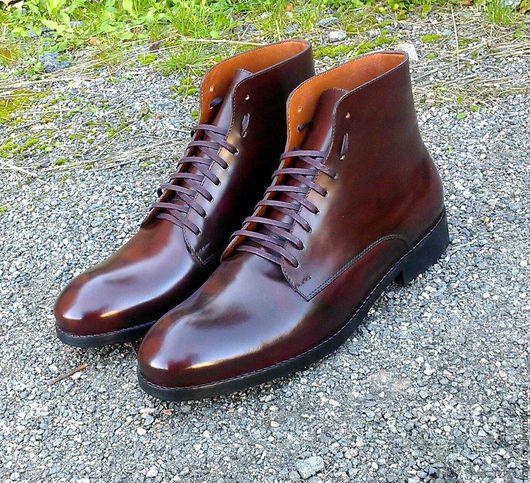 Обувь ручной работы. Ярмарка Мастеров - ручная работа. Купить зимние ботинки MB- 45. Handmade. Коричневый, кожа натуральная