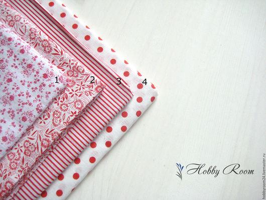 """Шитье ручной работы. Ярмарка Мастеров - ручная работа. Купить Набор ткани """"Красный"""". Handmade. Ярко-красный, ткань для шитья"""