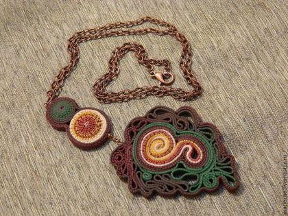 """Кулоны, подвески ручной работы. Ярмарка Мастеров - ручная работа. Купить Кулон """"Лесной Сон"""" из полимерной глины. Handmade."""