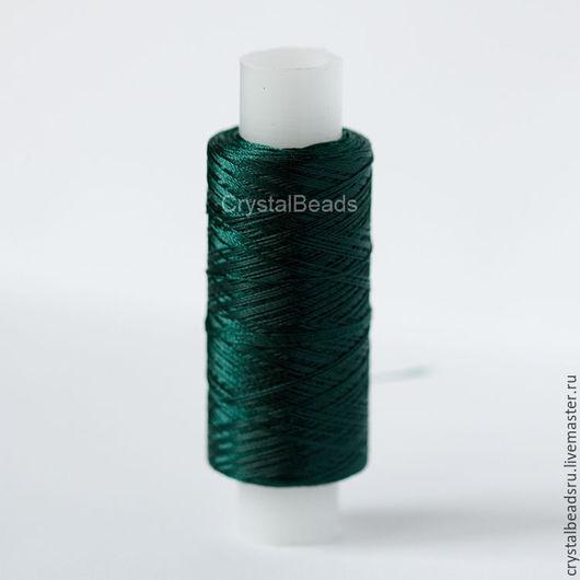 Вышивка ручной работы. Ярмарка Мастеров - ручная работа. Купить Лавсановые нитки 33л, 076 (изумруд), швейные нитки. Handmade.