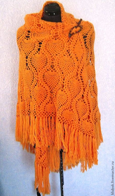 Shawl crocheted 'Pineapple-3' in stock, Shawls, Kamyshin,  Фото №1