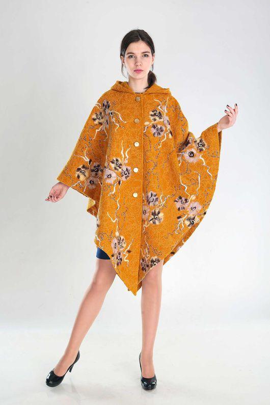 Верхняя одежда ручной работы. Ярмарка Мастеров - ручная работа. Купить ПЧ 48. Handmade. Оранжевый, пальто женское