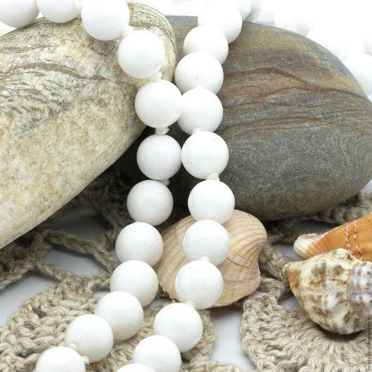 Для украшений ручной работы. Ярмарка Мастеров - ручная работа. Купить Агат белый бусины шар 4.5мм - арт.8-03. Handmade.