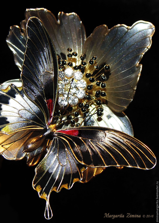 Парусник Ловии. Бабочка. Ювелирное украшение, Комплекты украшений, Истра,  Фото №1