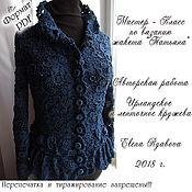 Материалы для творчества handmade. Livemaster - original item Irish lace.MK on knitting silk jacket. Handmade.