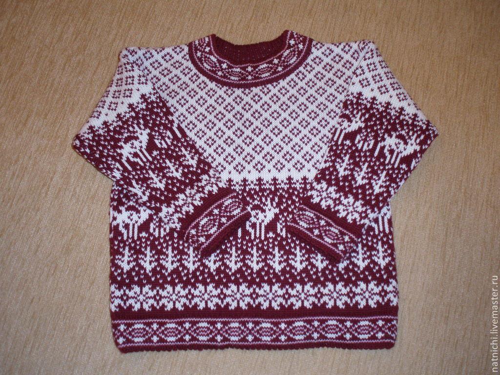 пуловер с оленями схема