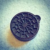 Русский стиль handmade. Livemaster - original item Pendant Black Sun. Handmade.