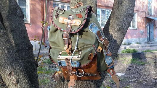 Рюкзаки ручной работы. Ярмарка Мастеров - ручная работа. Купить РюкZAC. Handmade. Хаки, рюкзак городской