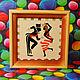 """Люди, ручной работы. Ярмарка Мастеров - ручная работа. Купить Серия панно """"Dance"""". Handmade. Ярко-красный, панно на стену"""
