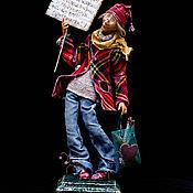 Куклы и игрушки ручной работы. Ярмарка Мастеров - ручная работа Холодало...)). Handmade.