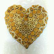 Для дома и интерьера ручной работы. Ярмарка Мастеров - ручная работа Сердце из спилов. Handmade.
