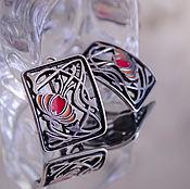 Украшения ручной работы. Ярмарка Мастеров - ручная работа Серьги серебро с эмалями Тюльпаны-2. Handmade.