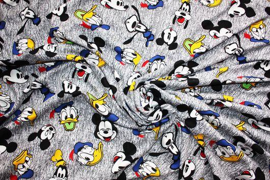 """Шитье ручной работы. Ярмарка Мастеров - ручная работа. Купить Трикотаж """"Disney"""". Handmade. Комбинированный, ткань, ткань для Тильды"""