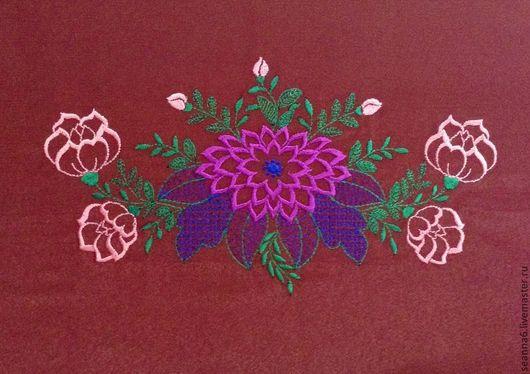 """Картины цветов ручной работы. Ярмарка Мастеров - ручная работа. Купить Вышивка на одежде, аппликация, картинка, картина """"Пионы-розочки"""". Handmade."""