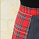 Юбки ручной работы. Длинная юбка с клиньями из правильной шотландки. Ирловин. Интернет-магазин Ярмарка Мастеров. Длинная юбка