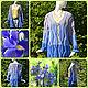 Knitted cardigan 'Blue iris' blue, blue. Cardigans. DominikaSamara. My Livemaster. Фото №6