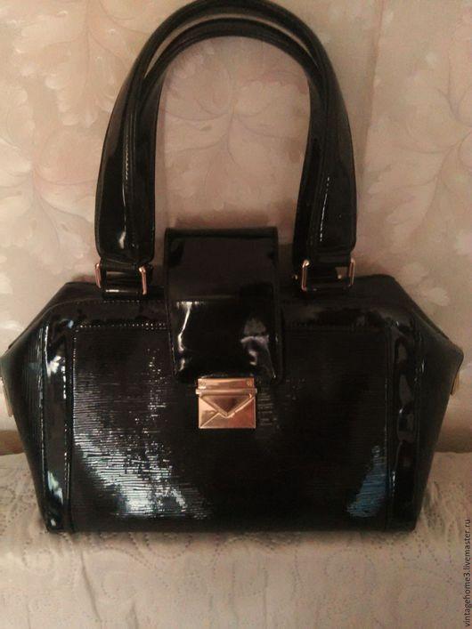 Винтажные сумки и кошельки. Ярмарка Мастеров - ручная работа. Купить сумка Alberto Felini. Handmade. Черный, сумка черная