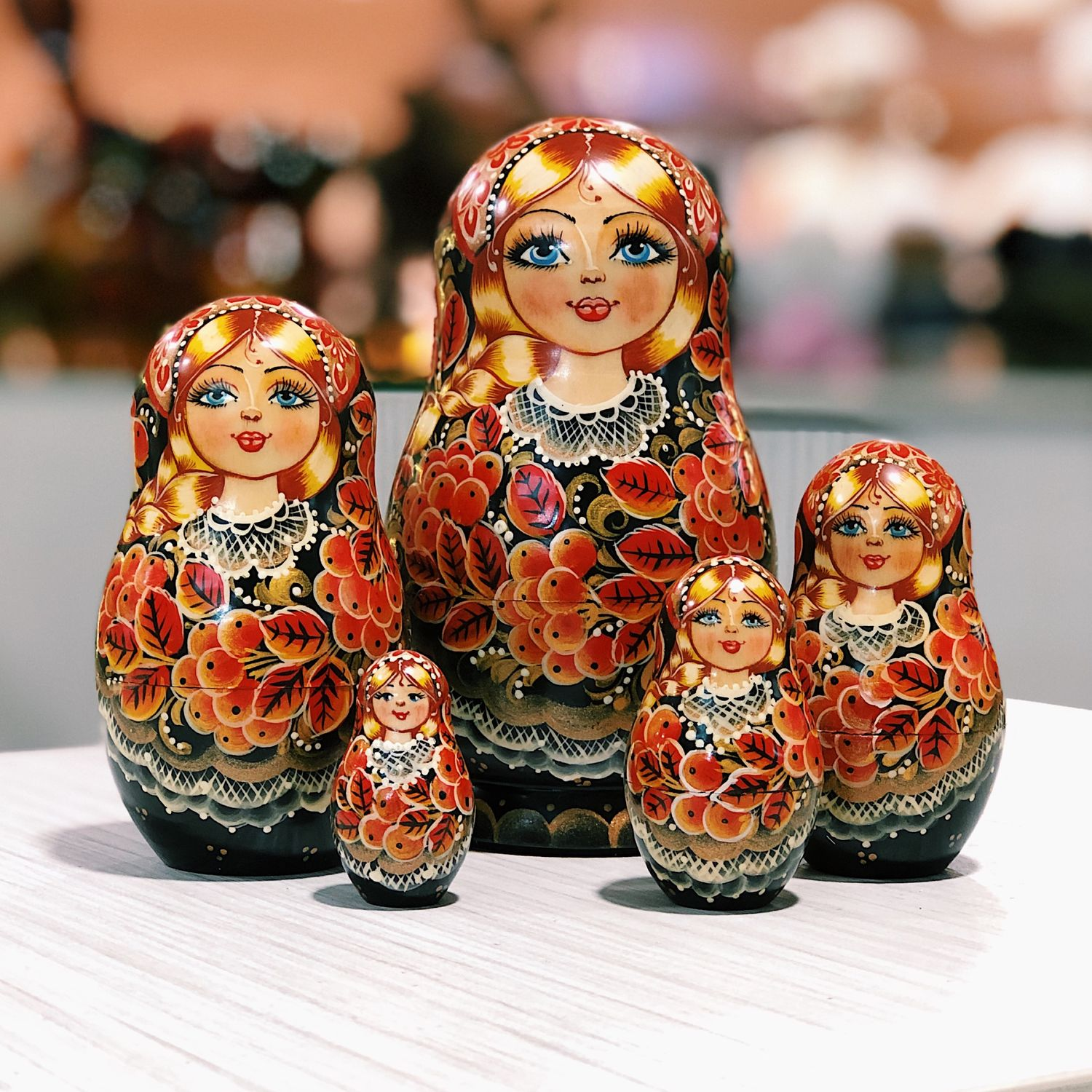 DOLL 'KHOKHLOMA WITH a mountain ASH', 14 cm, 5 seats, Dolls1, Moscow,  Фото №1