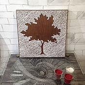"""Картины и панно ручной работы. Ярмарка Мастеров - ручная работа """"Дерево жизни"""" в стиле стринг арт. Handmade."""