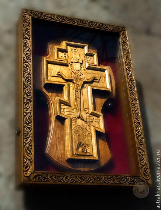Быт ручной работы. Ярмарка Мастеров - ручная работа. Купить Крест нывосной. Handmade. Коричневый, ручная авторская работа