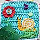 Развивающие игрушки ручной работы. Вязаный развивающий кубик с рыбкой. Ольга Лобова (ilonka). Ярмарка Мастеров. Синий, подводный мир
