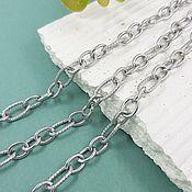 Материалы для творчества handmade. Livemaster - original item 50 cm Figaro Steel Chain 7x5x1 mm & 10x5x1 mm (4777). Handmade.
