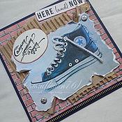 """Открытки ручной работы. Ярмарка Мастеров - ручная работа открытка""""Лучшему другу"""". Handmade."""