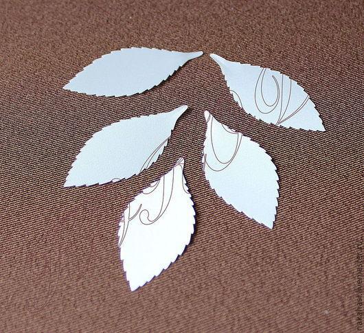 Другие виды рукоделия ручной работы. Ярмарка Мастеров - ручная работа. Купить Листочки розы из шелкового сатина 5см х 2,3см ВР671040. Handmade.