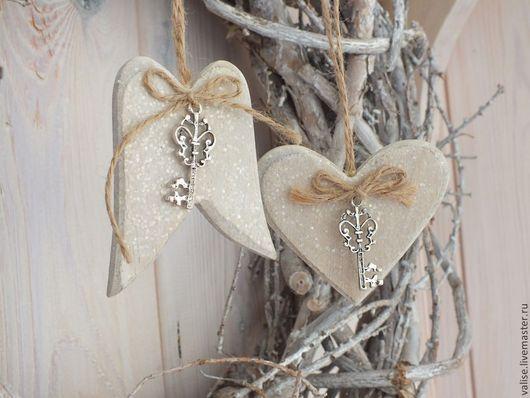 Другие виды рукоделия ручной работы. Ярмарка Мастеров - ручная работа. Купить Крылья Ангела и Сердце (дерево). Handmade. Бежевый