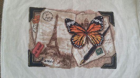 Животные ручной работы. Ярмарка Мастеров - ручная работа. Купить Бабочка. Handmade. Вышивка крестом, бабочка, мулине, dimensions