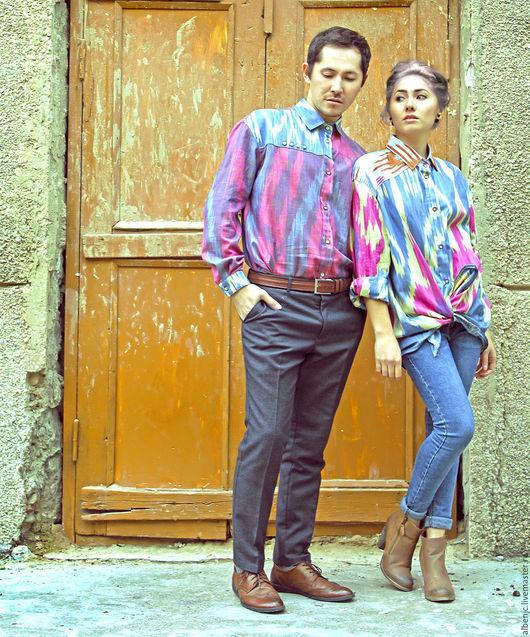 """Для мужчин, ручной работы. Ярмарка Мастеров - ручная работа. Купить рубахи """"Краски востока"""". Handmade. Разноцветный, рубаха женская"""