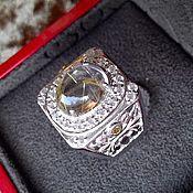 """Украшения ручной работы. Ярмарка Мастеров - ручная работа """"Багира"""" - шикарный дамский перстень с рутиловым кварцем. Handmade."""