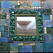 Для дома и интерьера ручной работы. Ярмарка Мастеров - ручная работа Зеркало декоративное. Зеленое, полимерная глина. Handmade.