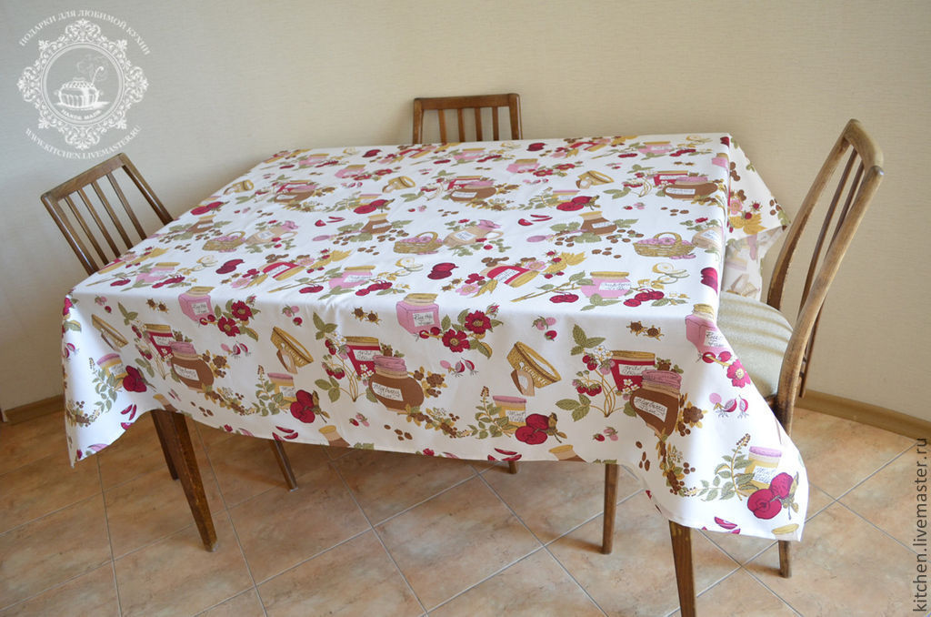 Water repellent tablecloth Jam, Tablecloths, Moscow,  Фото №1