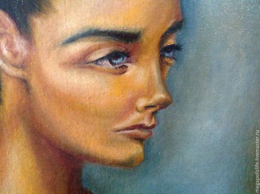 """Люди, ручной работы. Ярмарка Мастеров - ручная работа. Купить Картина """"Иная"""". Handmade. Картина, картина для интерьера, рыжий, девушка"""