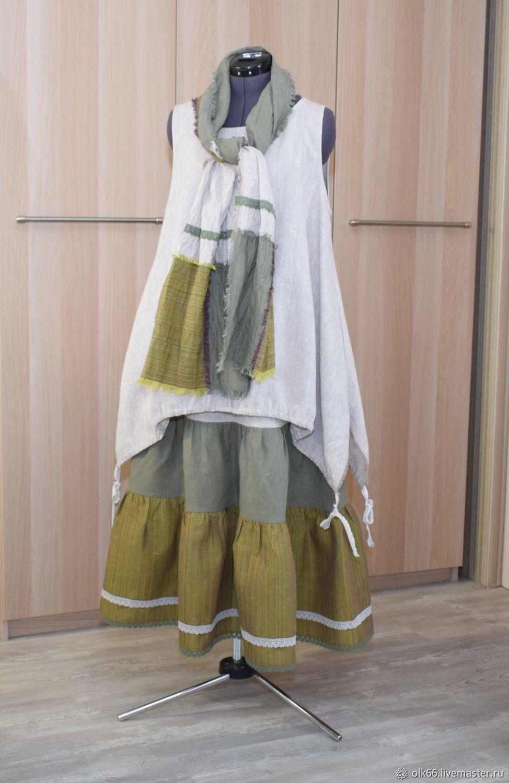 5bbaec50d Dresses handmade. Livemaster - handmade. Buy 203 Linen sundress boho skirt  scarf.Eco ...