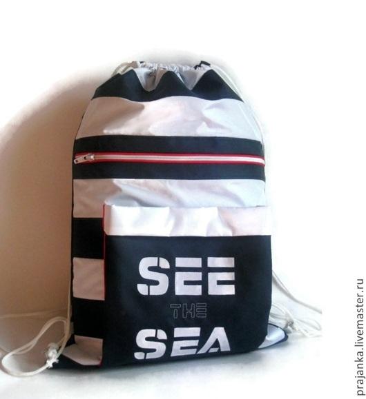 """Рюкзаки ручной работы. Ярмарка Мастеров - ручная работа. Купить Рюкзак мешок """"Увидеть море- See the sea"""". Handmade."""