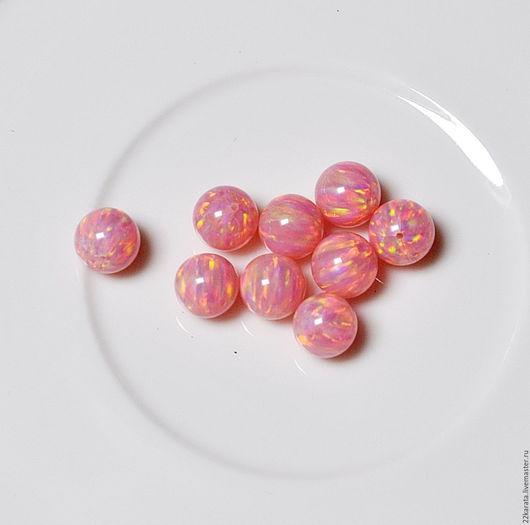 Для украшений ручной работы. Ярмарка Мастеров - ручная работа. Купить Опал синтетический, шар 8, розовый. Handmade. Комбинированный