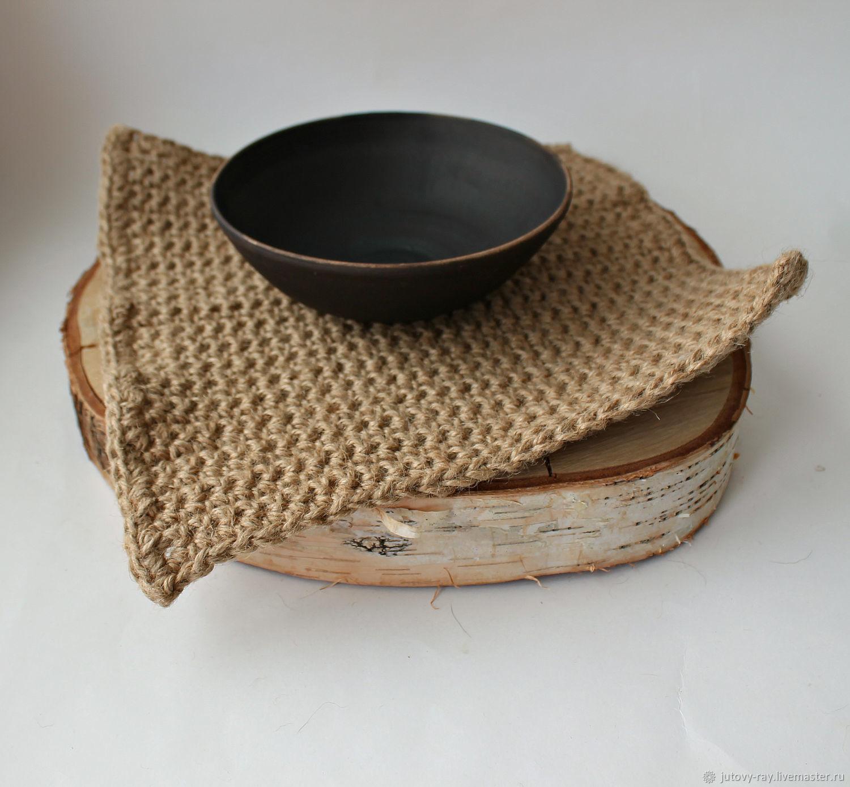 Jute fiber table napkin/Mat, Swipe, Vologda,  Фото №1