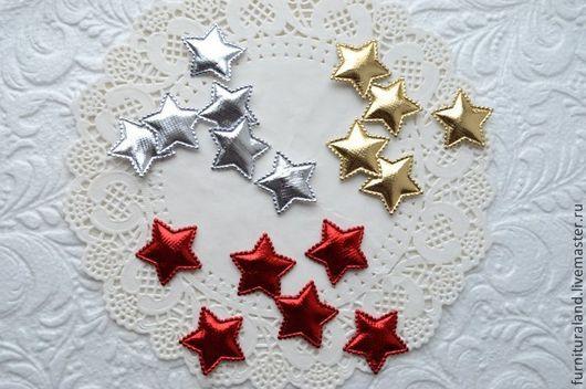 """Аппликации, вставки, отделка ручной работы. Ярмарка Мастеров - ручная работа. Купить Аппликации """"Сияющие звезды"""", 2 цвета.. Handmade."""