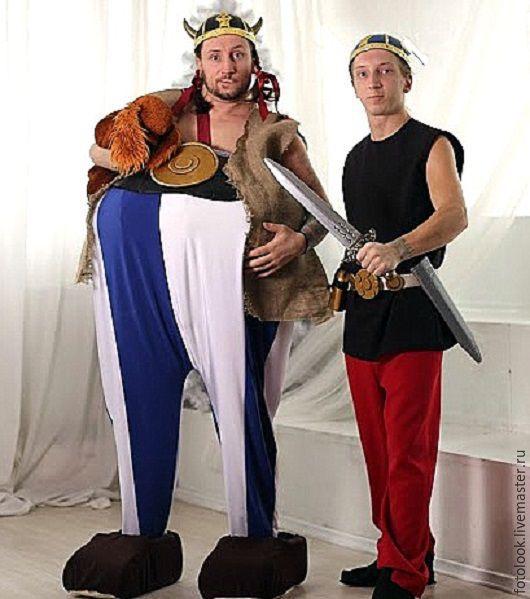 Карнавальные костюмы ручной работы. Ярмарка Мастеров - ручная работа. Купить костюм Астерикс и Обеликс. Handmade. Комбинированный, костюм для аниматора