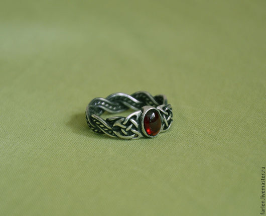 """Кольца ручной работы. Ярмарка Мастеров - ручная работа. Купить Кольцо """"Кельтский узел"""" с гранатом. Handmade. Кельтика, кельтские узоры"""