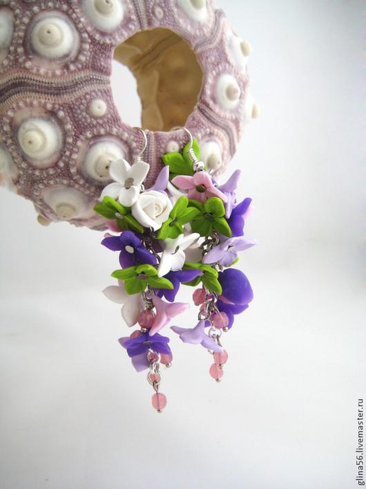 Серьги ручной работы. Ярмарка Мастеров - ручная работа. Купить Флора ...... Handmade. Нежно розовый, серьги с цветами, цветочные серьги