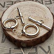 Материалы для творчества handmade. Livemaster - original item Toggle lock gold plated th. Korea (3126). Handmade.